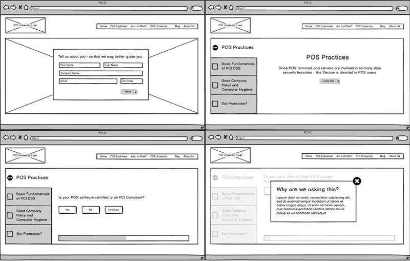 PCI-Q wireframes